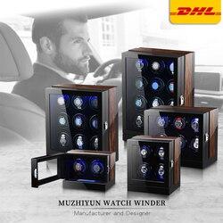 Автоматические роскошные часы Winder Box аксессуары Дисплей Механический вращающийся Uhrenbeweger бархат или кожа для мужчин