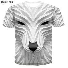 JOH FIERS 3D T-shirt summer mens hip hop Alisister brand clothing unisex pullover shirt anime funny print