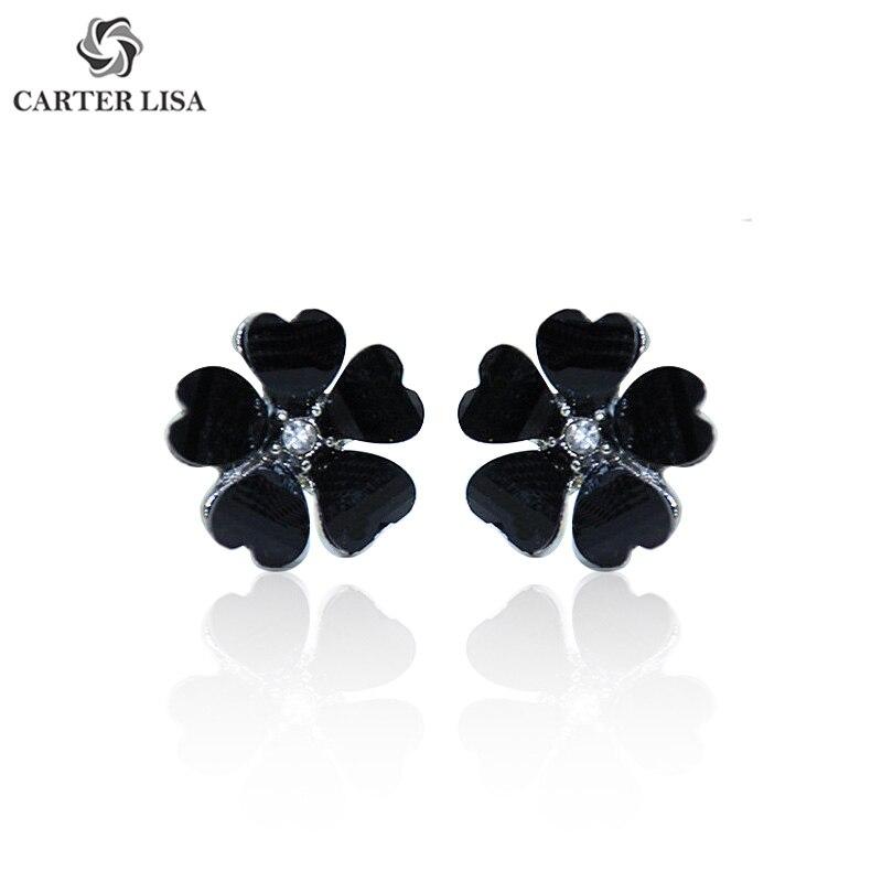 CARTER LISA New Fashion Sweet Candy Color Flower Earrings For Women Girl 2019 Jewelry Bijoux Elegant Gift Wholesale