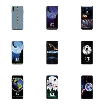 Black Soft TPU Ultra Thin Cartoon Pattern A Boy Et The Extra Terrestrial For Huawei Honor 20 20I 20S 10 10I 6A 7A 7X 8C 8X 9 9A image