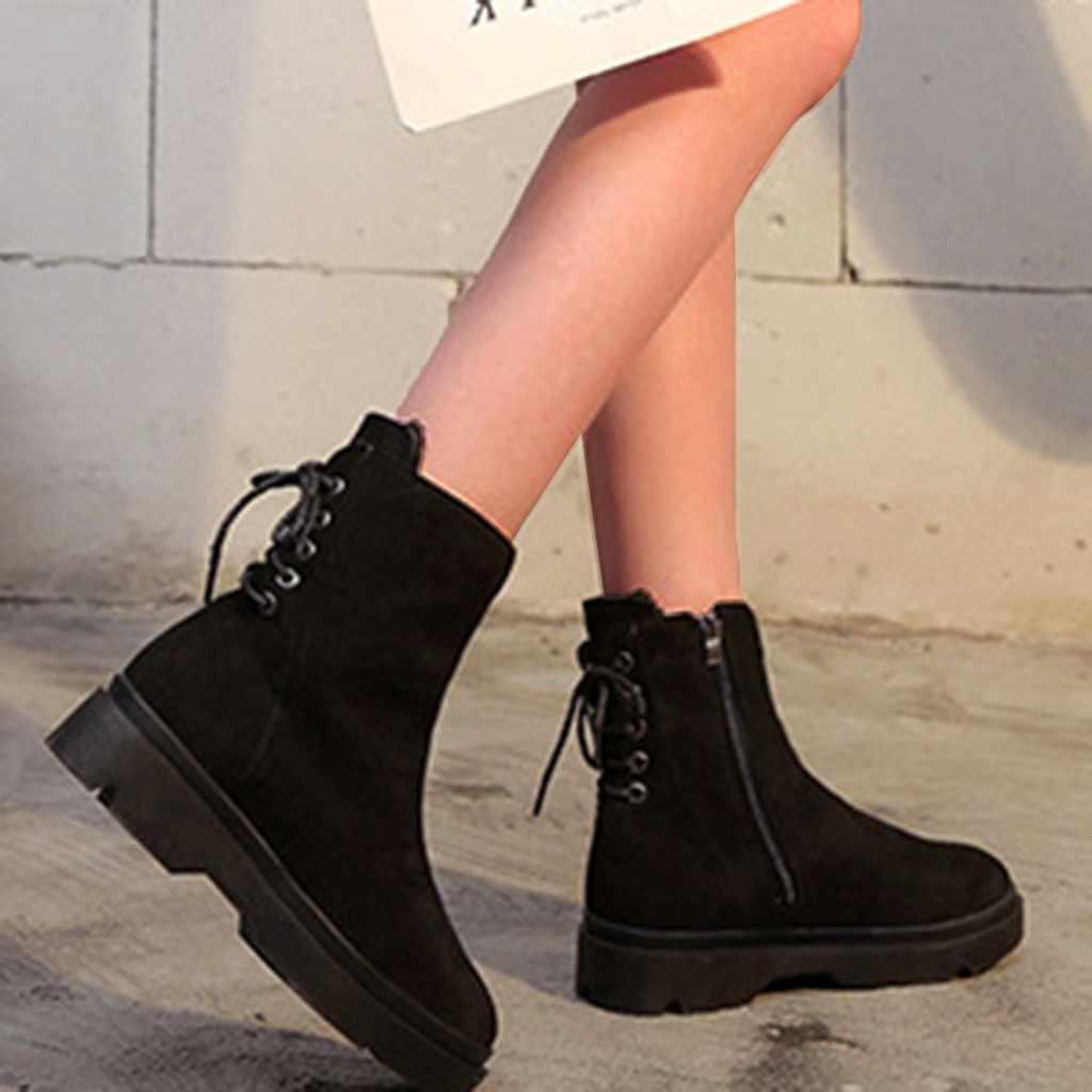 Women Winter Shoes ankle boots punk