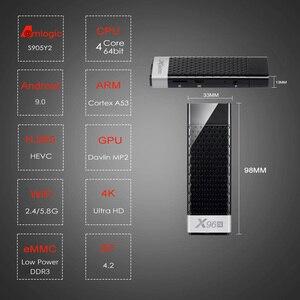 Image 2 - ТВ приставка X96S, 4 Гб, 32 ГБ, Amlogic S905Y2, Android 9,0, мини ПК X96S, Wi Fi, Bluetooth 4,2, 4K, HD 1080P, ТВ флешка, медиаплеер
