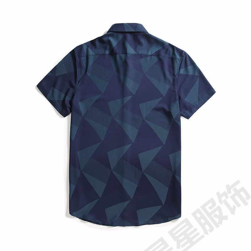 Plus 8XL 6XL 5XL 4XL Heren Hawaiiaanse Shirt Mannelijke Toevallige Camisa Masculina Gedrukt Strand Shirts Korte Mouwen Zomer Mannen Kleding 2020