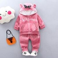 infant baby winter clothe velvet plush baby clothe w/pocket hat high quality option(80 90 100 110cm height)