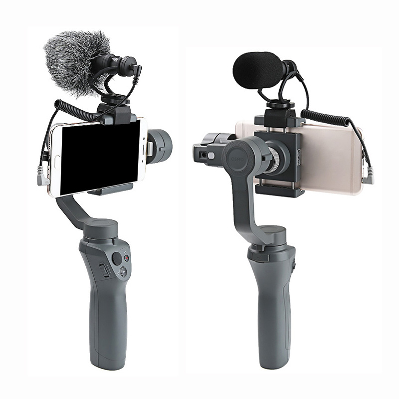 Gimbal OSMO Mobile 2 1 Cardioid Directional Condenser Video Microphone Mount DSLR Camera For DJI OSMO Mobile 2 Accessories