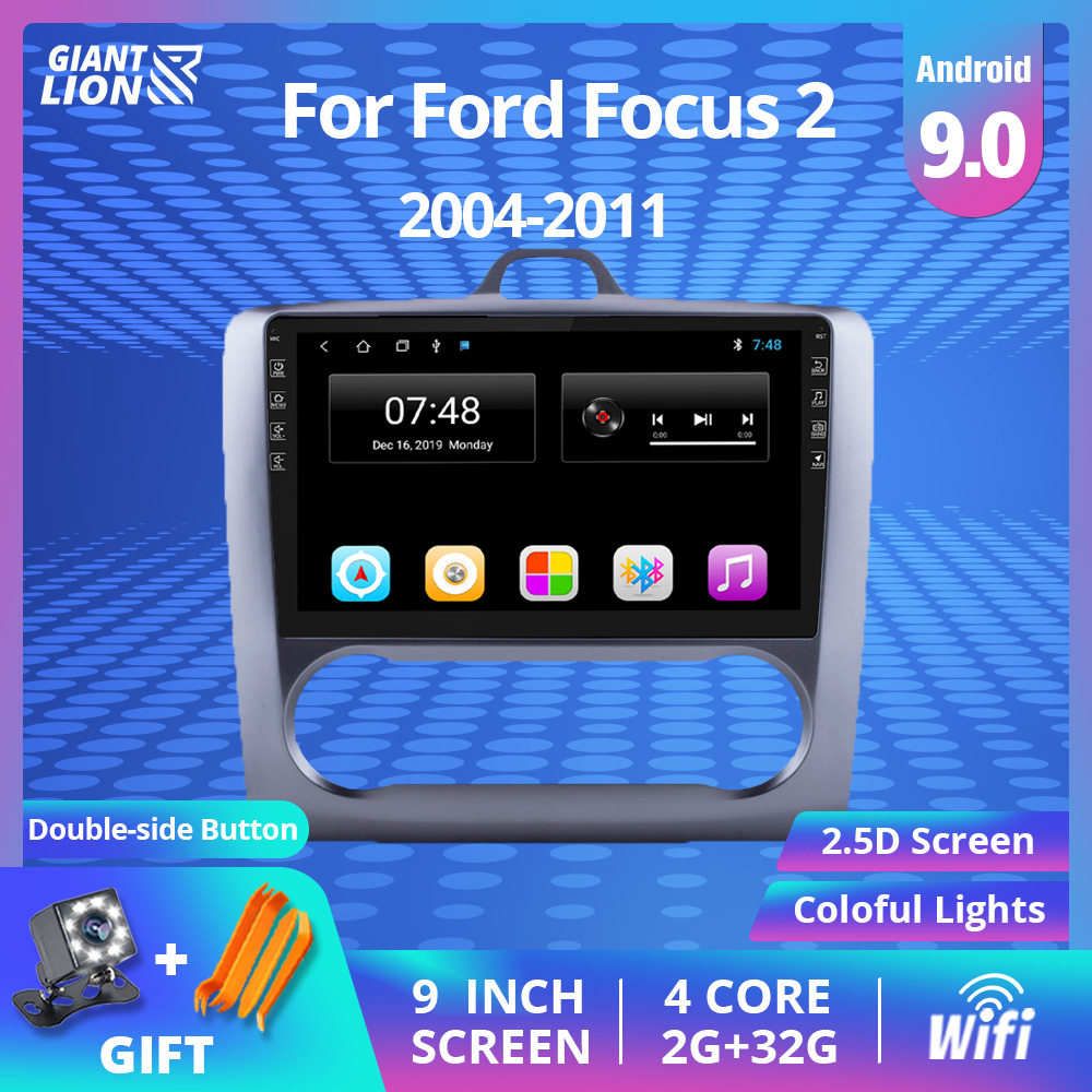 9 Inch 2din Android 9.0 Car Radio Dvd Player For <font><b>Ford</b></font> <font><b>Focus</b></font> EXI MT 2 3 <font><b>Mk2</b></font> 2004 2005 2006 2007 -2011 2Din GPS <font><b>Multimedia</b></font> Player image