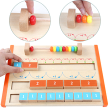 Baby toy Wooden Monterssori Math 1-10 Arithmetic Board Addition Educational Above 3 years Gifts for Children