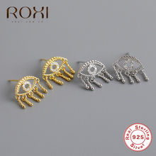 ROXI 100% 925 Sterling Silver Mini Zircon Evil Eye Small Stu