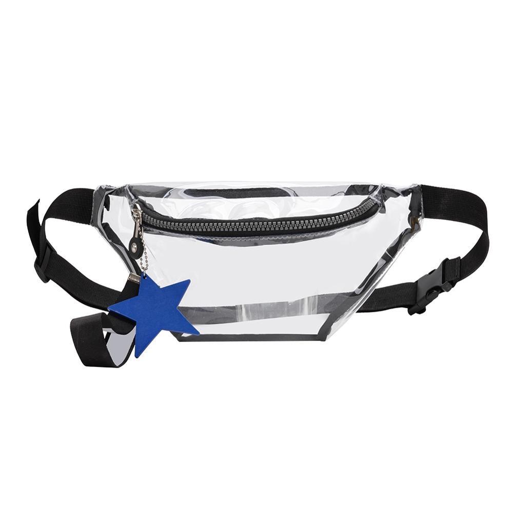 Brand Design Transparent PVC Waist Packs Women Girls Casual Pouch Fanny Chest Clear Shoulder Bags Trendy Ladies Waist Bag Bolso