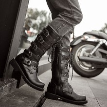 Армейские ботинки на плоской подошве; мужские ботинки на плоской подошве со шнуровкой в западном стиле; ботинки в байкерском стиле с пряжками; зимние ботинки; Уличная обувь; zapatos de hombre