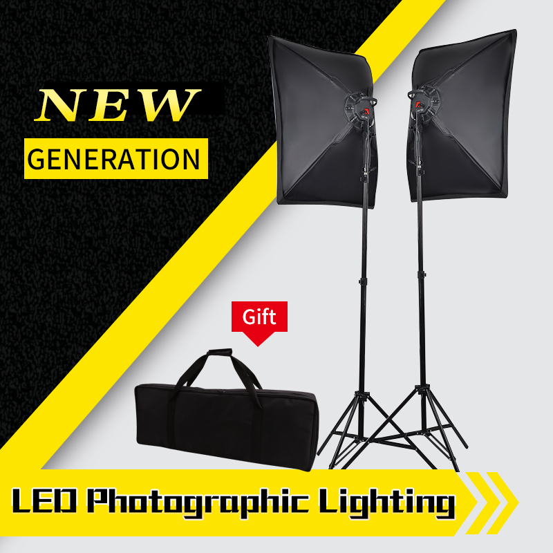 Photography Lighting Studio Light Kit with 2pc 30W LED Lamp 2pc Softbox 2pc 2m Light Stand 1pc Carrying Bag 2