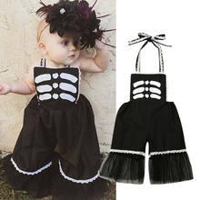 Newborn Infant Baby Girl Kid Romper Jumpsuit Bodysuit Clothes Outfit Playsuit wide-leg jumpsuit 0-24m Holiday/Party/Halloween(China)