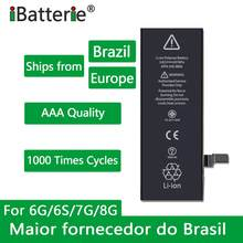 10pcs/lot iBatterie AAA Quality Battery For Apple iPhone 6S 6 7 8 Plus 5S 5 SE 6Plus 7Plus Replacement Bateria For iPhone 6S 7G