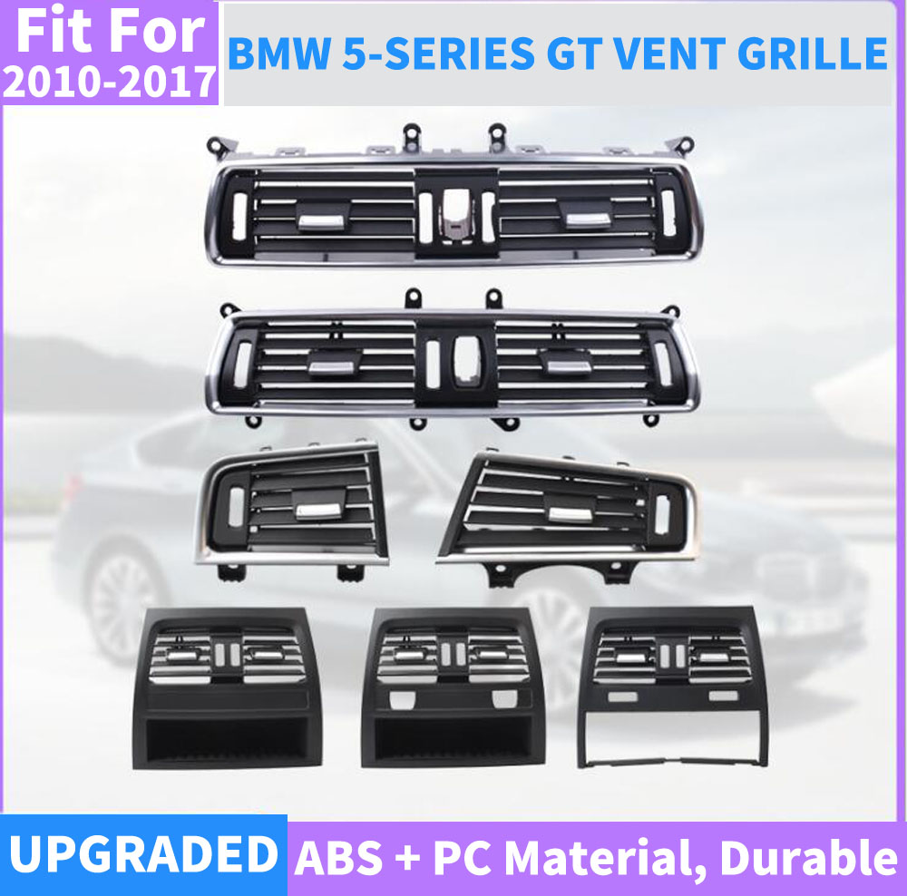 Auto Front Links Rechts Center Achter A/C Air Conditioner Chrome Outlet Vent Dash Panel Grille Voor Bmw 5 serie Gt 528 535 F07 10 17