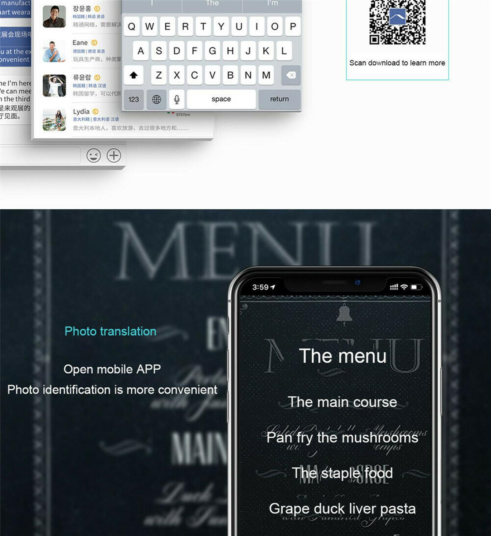Translaty MUAMA Enence Smart Instant Real Time Voice 40 Languages Translator AA