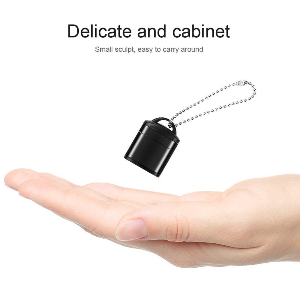 مصغرة USB 2.0 قارئ بطاقات مع البلاستيك غطاء مفتاح حلقة عالية السرعة مايكرو SD TF بطاقة الذاكرة لأجهزة الكمبيوتر المحمول الهاتف كاميرا