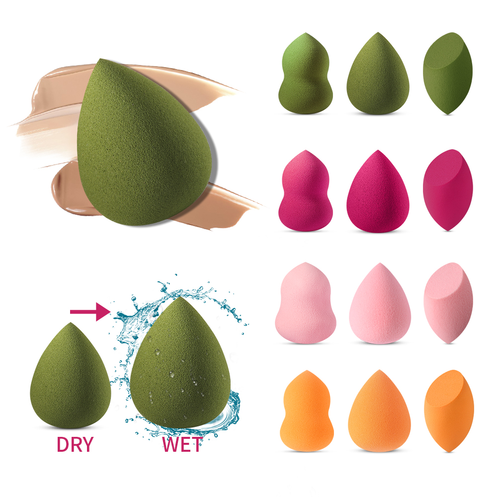 1PC Cosmetic Puff Makeup Sponge Powder Puff Dry Wet Use Blending Face Foundation Cream Blending Women Beauty Cosmetic Tools New