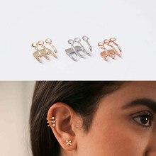 Boucle d'oreille anti-allergie en argent Sterling 925, élégante, sans perçage, pour femmes, haute qualité, mode, non percée