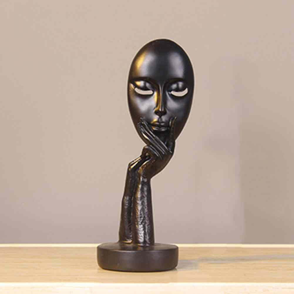 Abstract Human Face Model Statue Resin Statues for Decoration Sculptures Art Craft Desktop Sculpture Office Home Decor Gift
