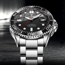 LIGE – montre de Sport mécanique pour hommes, automatique, marque de luxe, étanche, Date, horloge, plongée, 2021, nouvelle collection 100