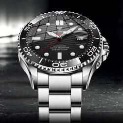2021 New Sport Mens Mechanical Watches LIGE Top Brand Luxury Automatic Watch Men 100 Waterproof Date Clock Man Diving Wristwatch