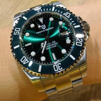 Men's Watches PAGANI DESIGN Top Brand Luxury Mechanical Watch Men NH35 Waterproof Sport Automatic Wristwatch Men Reloj hombres