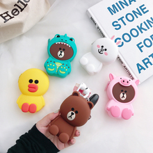 Women Wallets Soft Silicone Cartoon Mini Money Bag Earphone Box Womens And Purses Cute Animal Coin For Airpods Cases