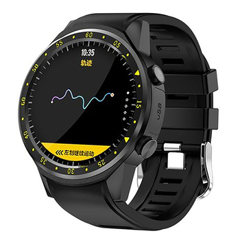 GPS Smart Watch Men with SIM Card F1 Smart Watches Heart Rate Detection Sport Phone Connected Watch Android IOS Clock Black