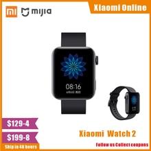 2020 Xiaomi Mi Watch GPS NFC WIFI ESIM Phone Call Bracelet Android Smart Wristwatch Sport Bluetooth Fitness Heart Rate Monitor