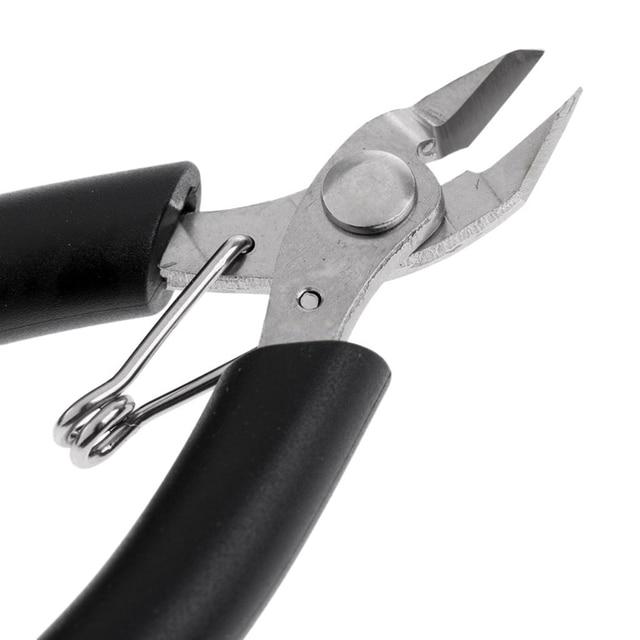 Alicates de corte, herramientas de encordado, máquina de tenis, raqueta de bádminton, Mini cortador Diagonal negro, herramientas