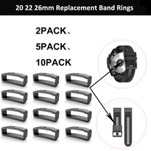 20mm 22mm 26mm replacement Loop Ring Holder for Garmin Fenix 6S 6X 6 Pro 5X 5S 5 5 Plus 3 HR silicone Rubber Clasp Keeper(China)