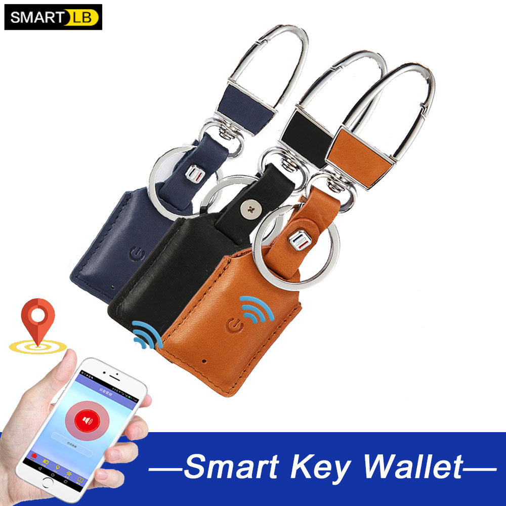Smart Anti Lost Intelligent Bluetooth Leather Key Chain Ring Cover Case Holder Remote Key Wallet Multi Function Case
