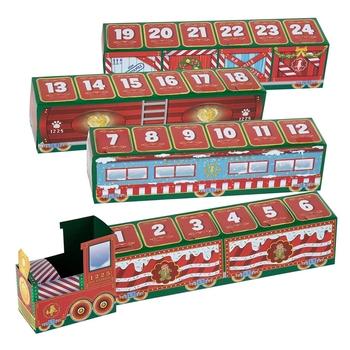 Mały leśny pociąg bożonarodzeniowy dzieci świąteczne dekoracje boże narodzenie 24 dni odliczanie pociąg DIY spersonalizowany prezent pociąg adwent C tanie i dobre opinie CN (pochodzenie)