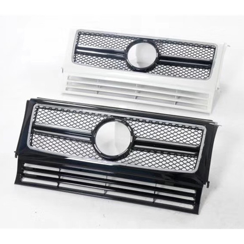 For Mercedes-Benz G-Class ABS plastic front grille G63 W463 G500 G55 G350d AMG GT vertical bar Car styling Middle grille