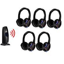 Silent Disco Headset Konkurrieren System 200m Led Drahtlose Kopfhörer 5 Kopfhörer + 1 Sender