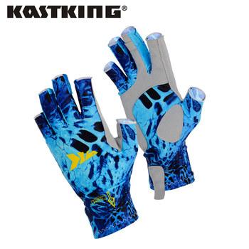 KastKing rękawice wędkarskie SPF 50 słońce mężczyźni ręce rękawice ochronne oddychające Outdoor Sportswear rękawice Carp fishing Apparel Pesca tanie i dobre opinie Fishing Gloves Trwałe Pół palca Microfiber (synthetic leather) palm