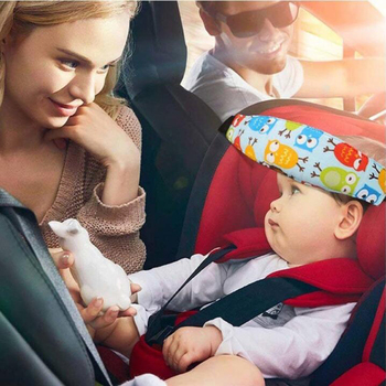 Child car seat head fixed auxiliary cotton belt baby carriage seat belt sleeping belt baby carriage child safety seat protection image