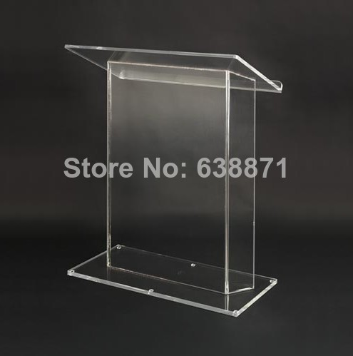 Free Shiping Super Hot High Quality Customized Acrylic Podium Pulpit Lectern