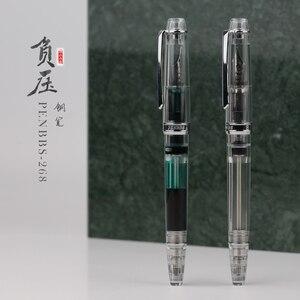 Image 2 - Moonman PENBBS 268 remplissage sous vide stylo plume Iridium EF/F/M plume 0.38/0.5/0.7mm entièrement Transparent mode écriture cadeau ensemble de stylos