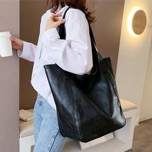Burminsa Vintage Große Kapazität Weichen Schulter Tasche Für Frauen Büro Damen Großen Arbeits A4 Handtaschen Hohe Qualität PU Leder Tote taschen