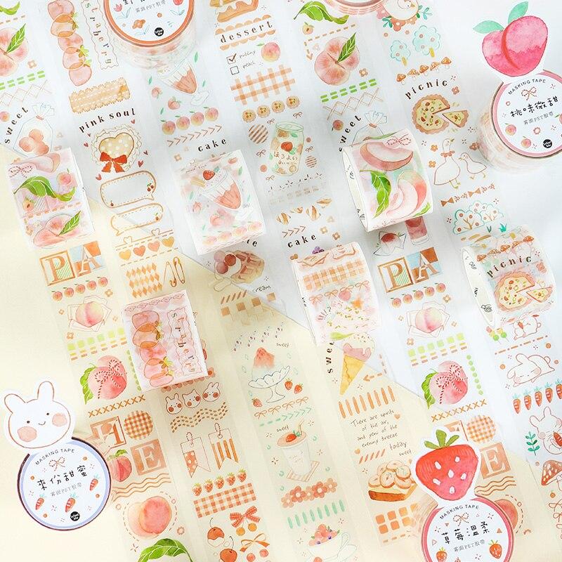 12 PCS/LOT Yummy Series Foggy Surface Decorative Tape PET Tape