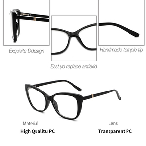 Image 3 - Women Eyeglasses Frame Glasses Transparent Lens Retro Ladies Cat Eye Glasses Vintage Myopia Glasses Frame Eyewear#OR011