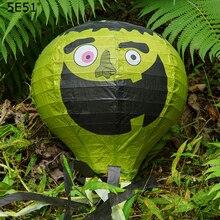 Halloween decoration hot air balloon paper lantern beard charm/ lampshade 12inch