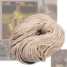 Cuerdas de yute Sisal de 6mm x 100m, cuerda de cáñamo Natural, decoración para rascar mascotas, decoración artística para el hogar