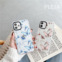 Cute Butterfly Printed Phone Case For iphone 12 mini 11 Pro Max Cartoon Silicone Cover For iphone XS Max SE 2020 XR X X 8 7 plus