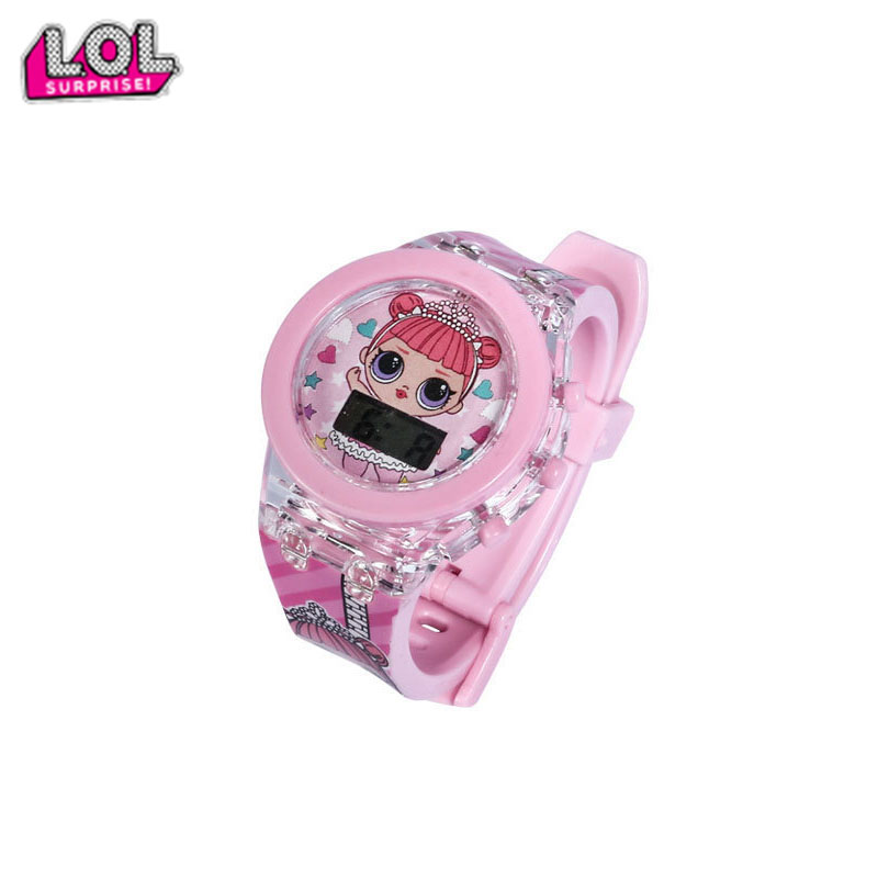 Original Lol Surprise Dolls Glowing 3D Light Watches Lols Quartz Watch Action Toys Figure Lol Christmas Girl's Birthday Gifts