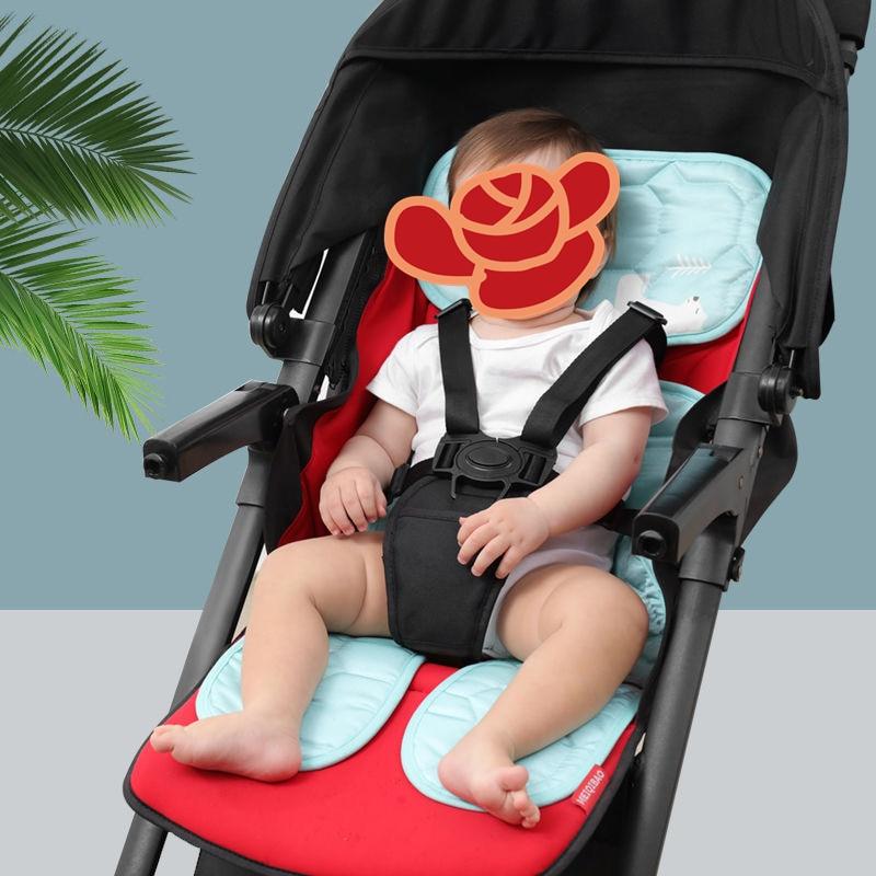 Baby Stroller Seat Ice Silk latex Soft Child Cart Mat Infant Cushion Buggy Pad Chair Pram Car Newborn Pushchairs Accessories