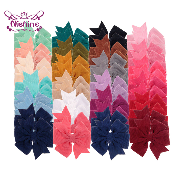 "Nishine 4"" 10pcs/lot Swallowtail Chiffon Bows for Baby Girls Headbands Boutique Bows for Hairpins Clips Hair Bows Accessories"