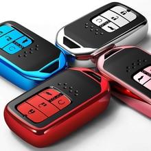 1 個高品質クローム TPU 車のキーケースカバーバッグフィットホンダのすべてのモデルキーシェルプロテクターキーチェーン自動車の付属品