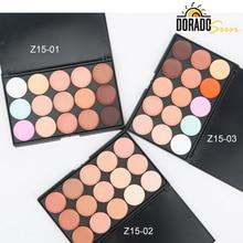 Doradosun 15 Color Professional  Concealer Foundation Cream Natural Full Cover Face Dark Circle Women Makeup Concealer Palette недорого